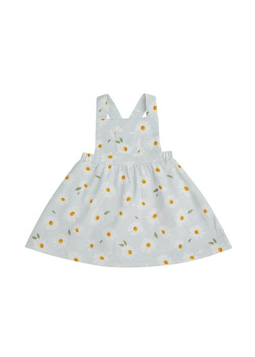 Angel Dear Angel Dear Daisy Corduroy Overall Dress Grey