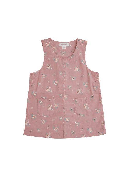 Angel Dear Angel Dear Mini Rose Corduroy Mod Dress