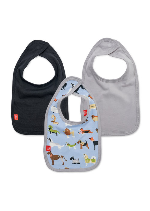 Magnetic Baby Magnetic Me In-Dognito II Modal Magnetic Bibs 3 pack