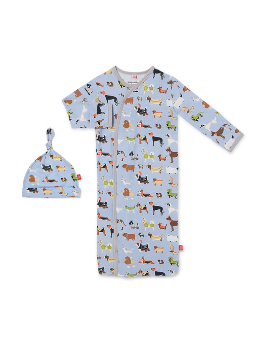 Magnetic Baby Magnetic Me In-dognito II Modal Magnetic Sack Gown & Hat