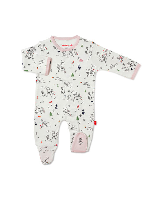 Magnetic Baby Magnetic Me A Friend in Me Organic Cotton Magnetic Footie