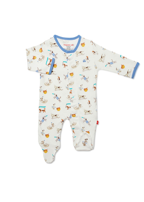 Magnetic Baby Magnetic Me Howlarious Organic Cotton Magnetic Footie