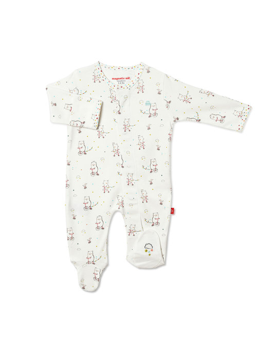 Magnetic Baby Magnetic Me Welcome Baby Organic Cotton Magnetic Footie