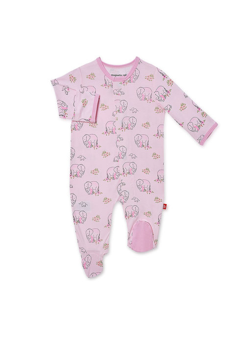 Magnetic Baby Pink Love You a Ton Modal Magnetic Footie