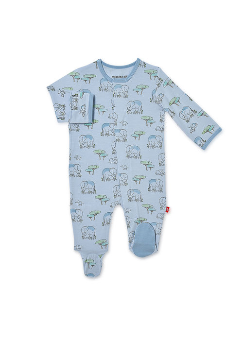 Magnetic Baby Magnetic Me Blue Love You a Ton Modal Magnetic Footie