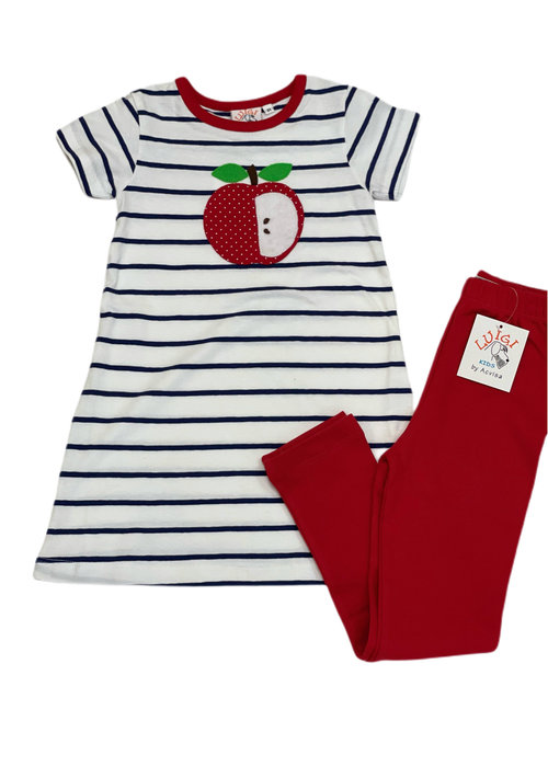 Baby Luigi Striped Apple Play Dress