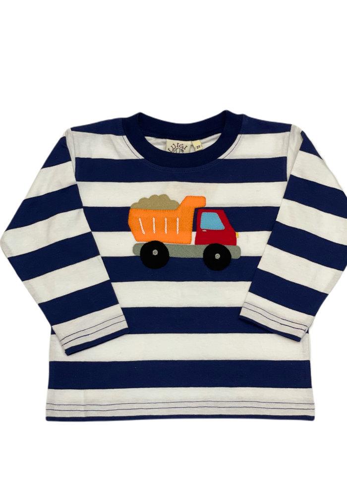 Boys Long Sleeve Dump Truck Tee