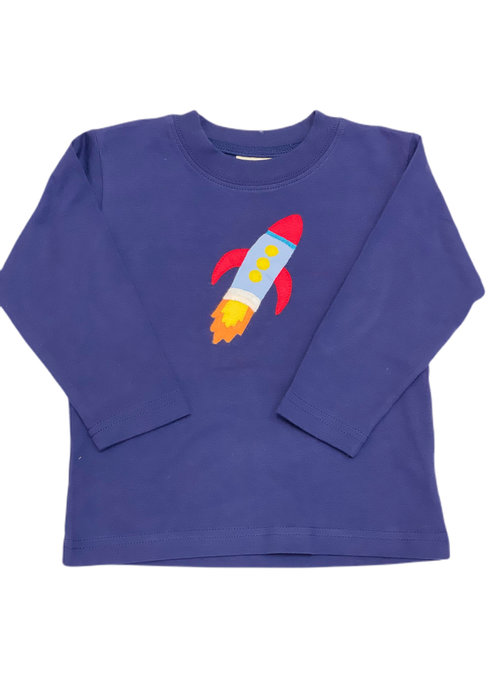 Baby Luigi Boys Long Sleeve Rocket Ship Tee