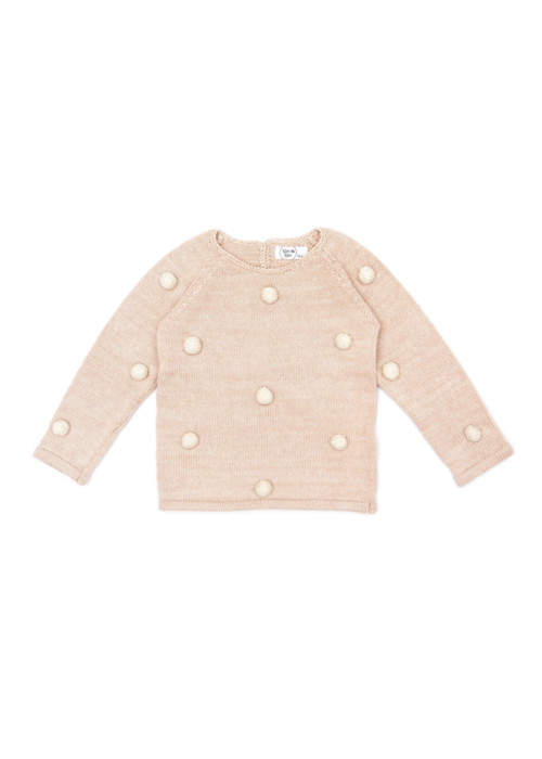 Tun Tun Tun Tun PomPom Sweater in Shell Pink Marl