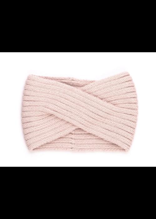 Tun Tun Tun Tun Knitted Headband in Shell Pink