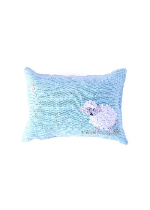 Melange Blue Lamb Pillow