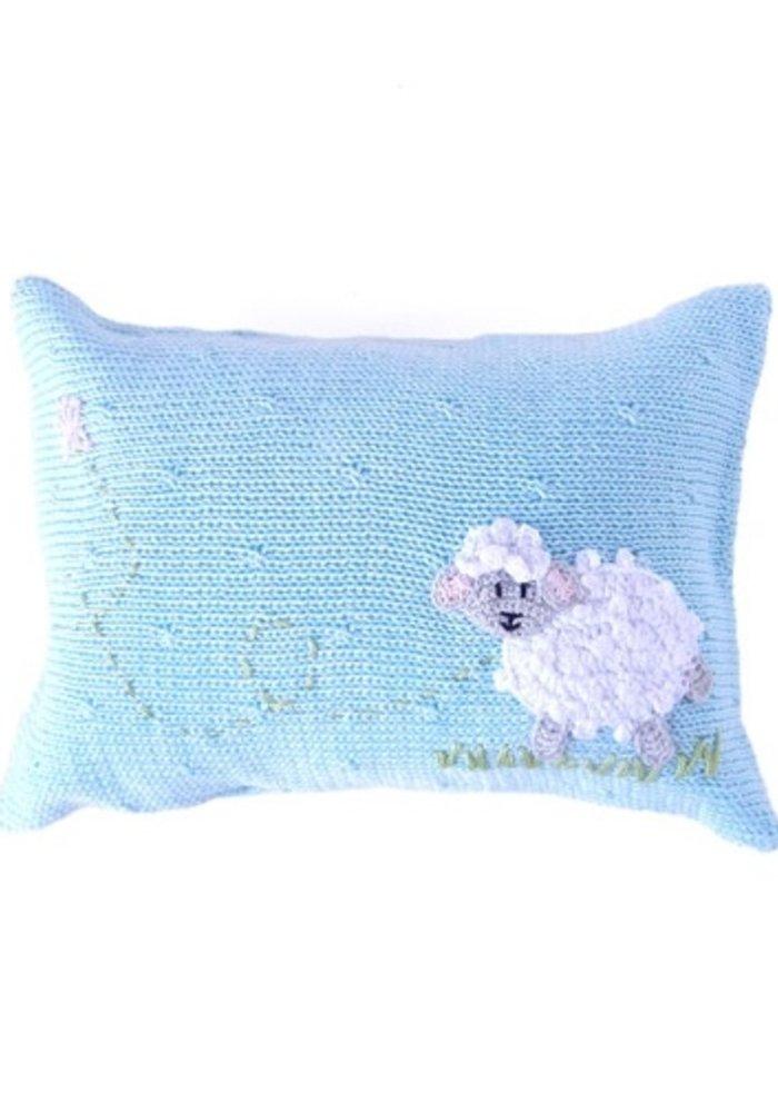 Blue Lamb Pillow