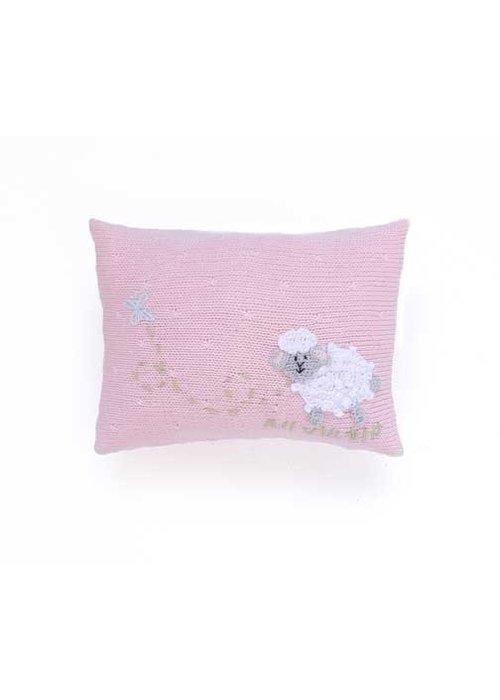 Melange Pink Lamb Pillow