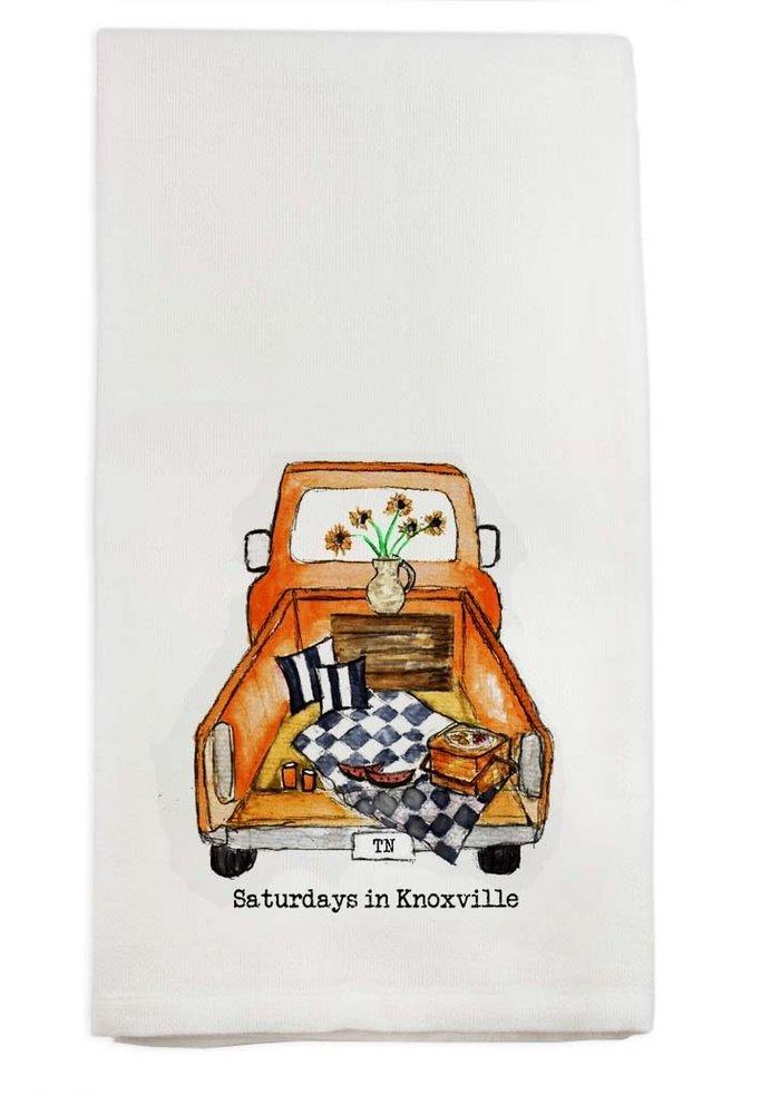 Saturdays In Knoxville Tea Towel