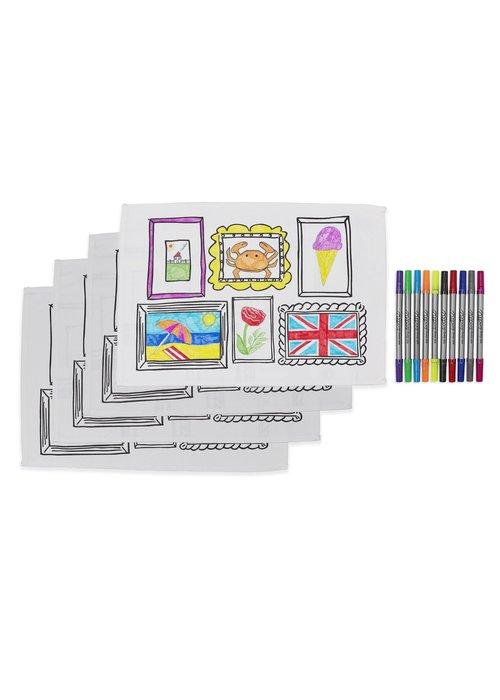 Doodle Frame Placemat-Set of 4
