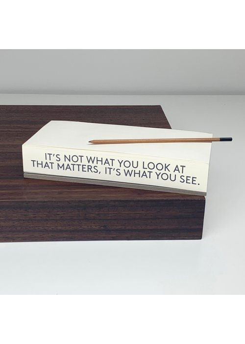 It's Not What You See... Quote Paper Pad