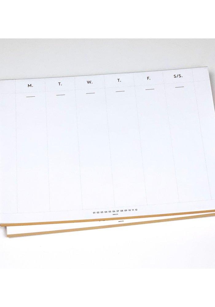 Gold Edge Desk Planner