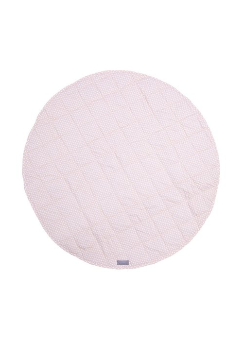 Louelle Round Gingham Play Mat - Pink