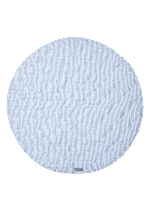 Louelle Round Gingham Play Mat - Blue