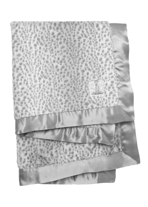 Little Giraffe Snow Leopard Luxe Baby Blanket