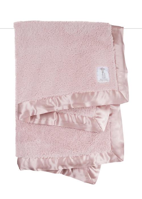 Little Giraffe Solid Chenille Baby Blanket-Pink