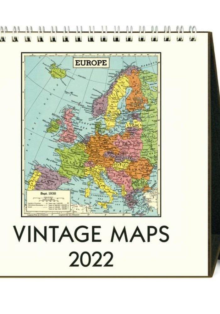 CP Desk Calendar Vintage Maps