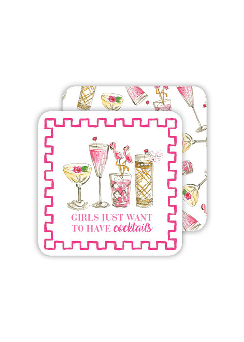 Girls Just Want to Have Cocktails Coaster Set