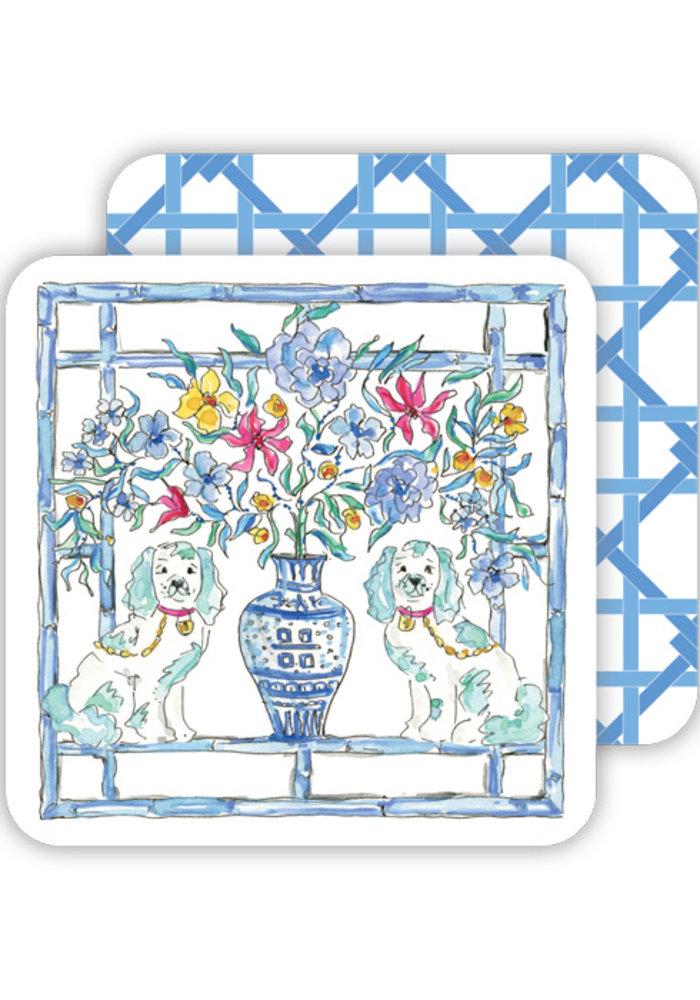 Staffordshire Dogs Coaster Set