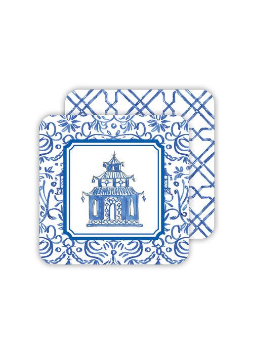Blue Pagoda Coaster Set