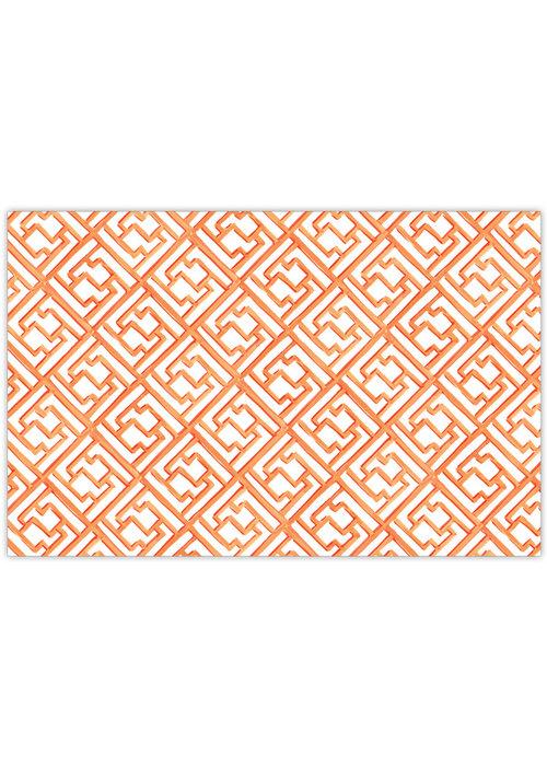 Tangerine Lattice Placemat Set
