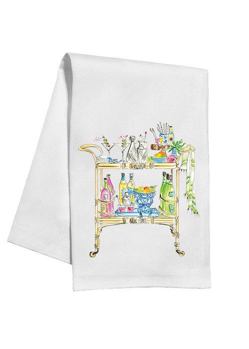 Bar Cart Garden Tea Towel