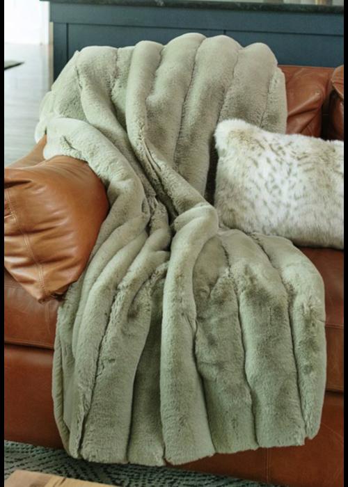 Donna Salyers Faux Fur Washable Posh Throw -Aloe