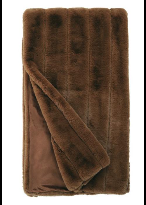 Donna Salyers Faux Fur Washable Posh Throw -Spice