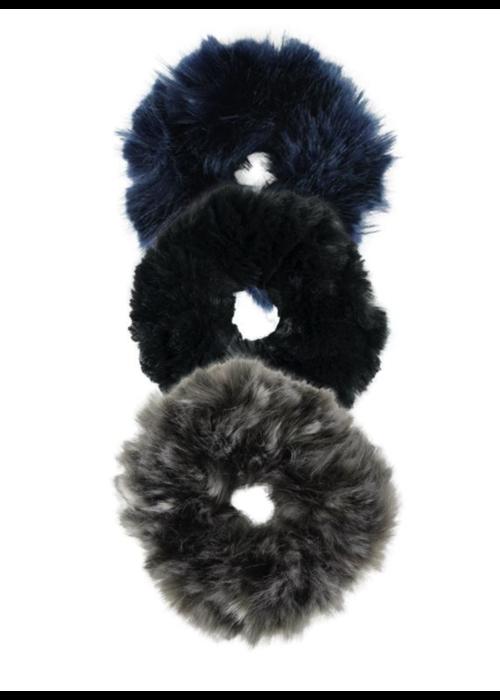 Donna Salyers Faux Fur Scrunchie-Dark Collection
