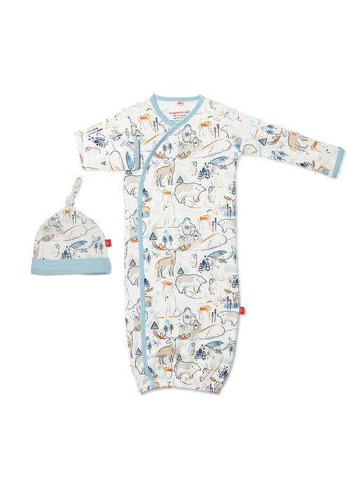 Magnetic Baby MAGNorthern Lights Magnetic Gown & Hat Newborn - 3 Months