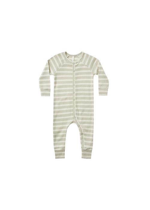 Rylee & Cru R+C Ribbed Longjohn Pajamas-Agave Stripe