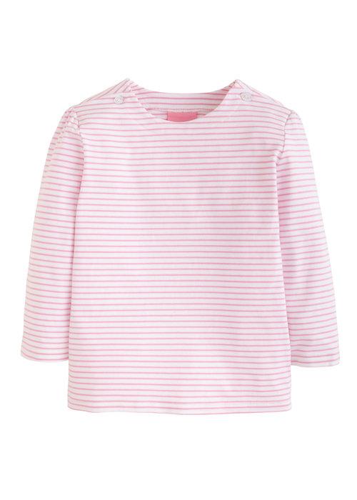 Little English Rosie Blouse-Pink Stripe