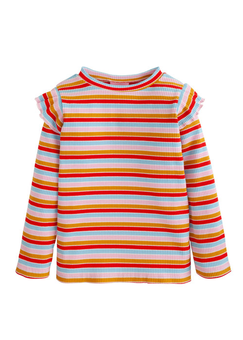 Little English Sadie Top-Primary Stripe