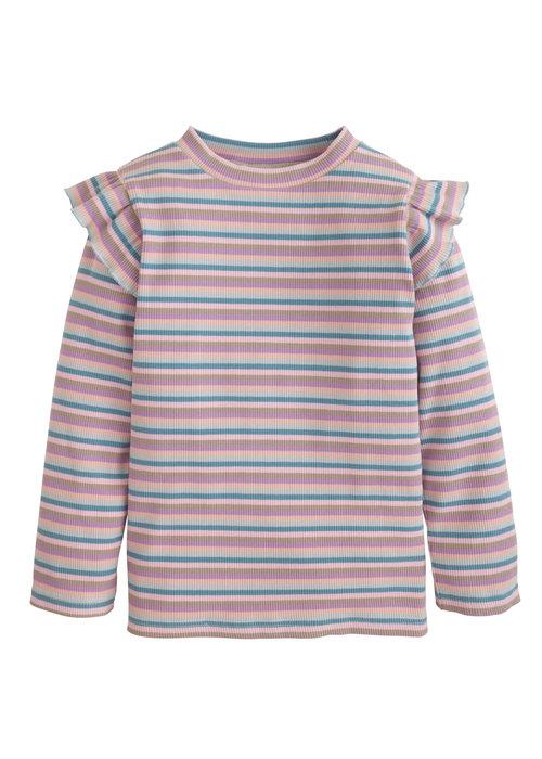 Little English Sadie Top-Lilac Stripe