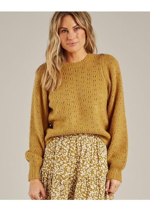 Rylee & Cru R+C Balloon Sweater-Gold