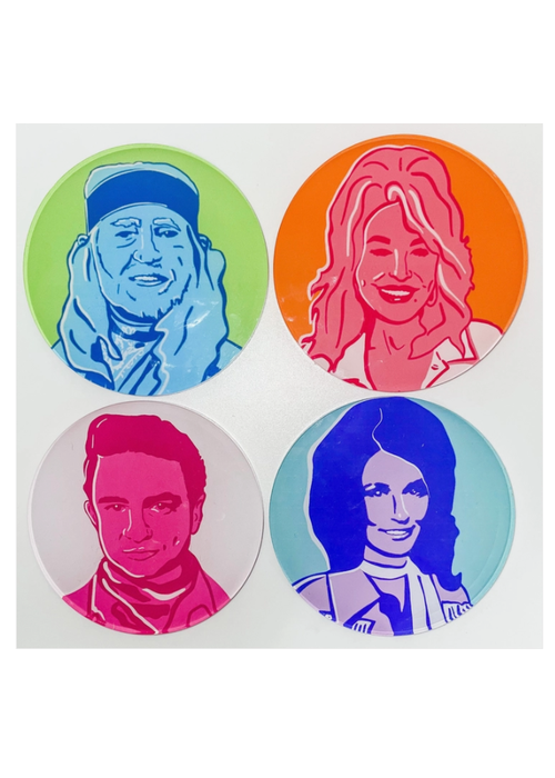 Country Legends Coaster Set of 4