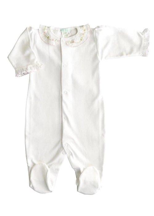 Baby Threads/Marco Lizzie Pima Ruffle Footie 3 Month