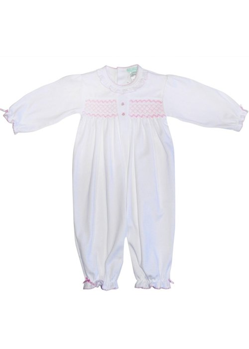 Baby Threads/Marco Lizzie Smocked Ruffle Converter Gown 3M