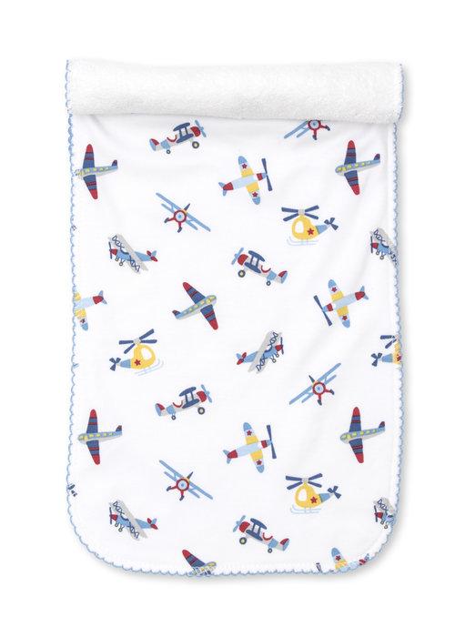 Kissy Kissy KK Just Plane Fun- Burp Cloth