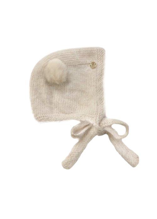 Petit Maison PM Oatmeal Cashmere Teddy Hat