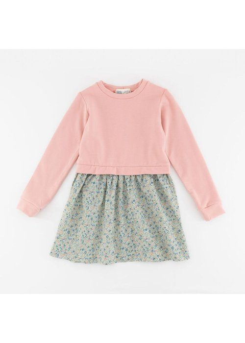 Thimble Collection Classic Sweatshirt Dress in Rose Fleurs