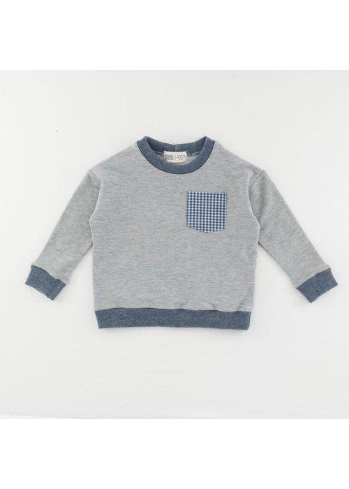 Thimble Collection Bamboo Pocket Sweatshirt-Heather Gray