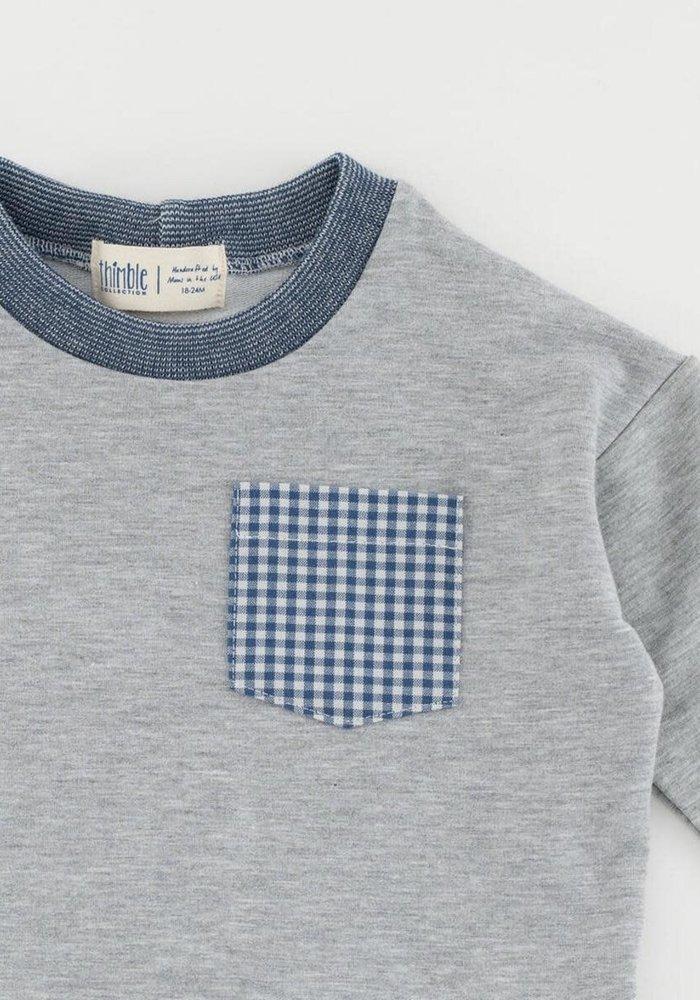 Bamboo Pocket Sweatshirt-Heather Gray