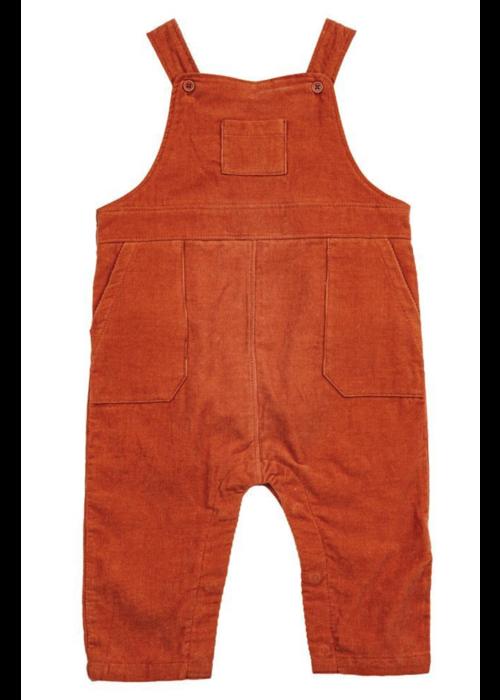 Angel Dear Corduroy Overalls -Burnt Orange