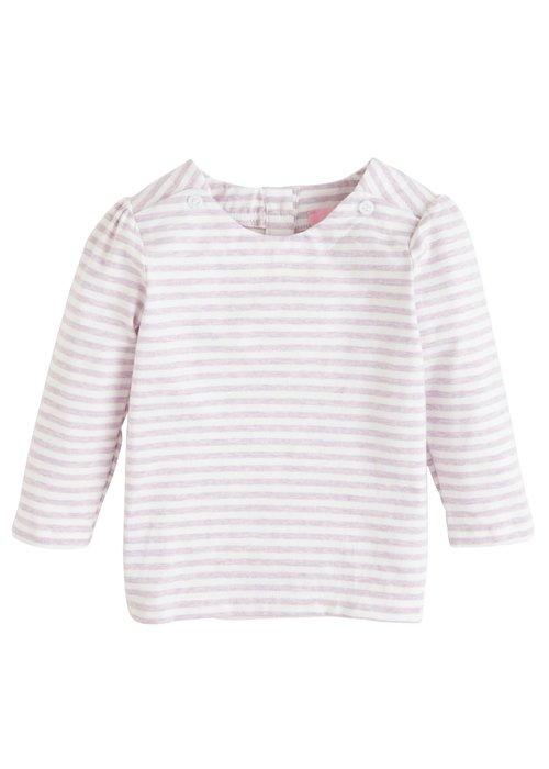 Little English Rosie Blouse-Lilac Stripe